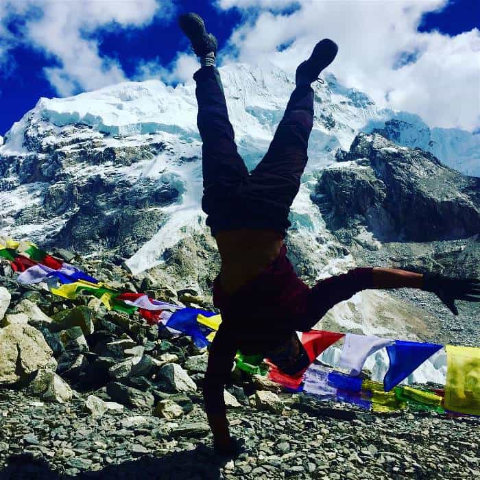 Celebrating the end of the Everest Base Camp Trek