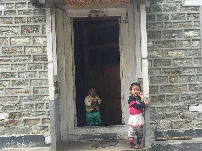 Lovely Nepali kids on the Everest Base Camp Trek - shy but friendly