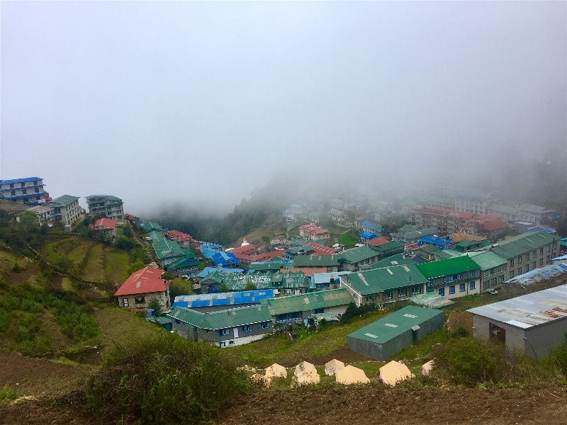 Namche Bazaar is a Sherpa trading and cultural hub along the Everest Base Camp Hike and serves as a primary respite for weary trekkers on rest days
