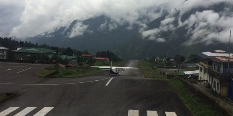 Why is the Lukla airport considered the most dangerous airport in the world?