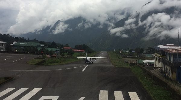 Takeoff at Lukla Airport