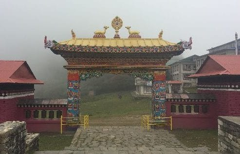 The entrance to the Tengboche Monastery, on the Everest Base Camp Hike