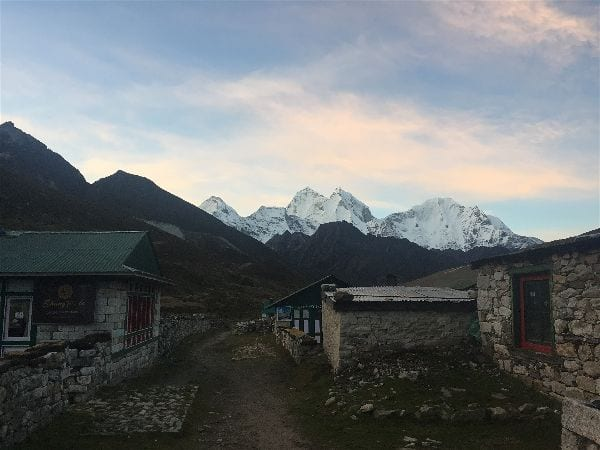 Pheriche - a tiny town made of stone on the Everest Base Camp hike, situated between Tengboche and Gorak Shep
