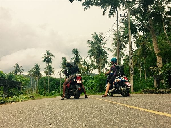 Motorbiking through Thailand wearing the Xero Z-Trail minimalist sandals