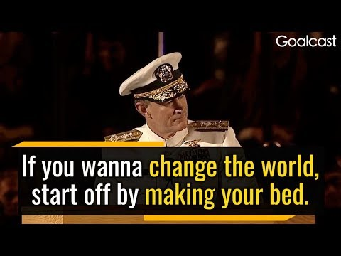 If you want to change the world, start off by making your bed (English Learning Material)