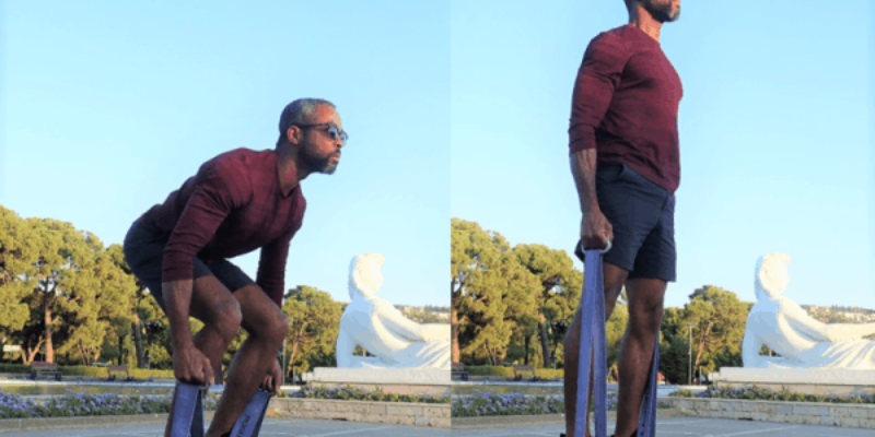 Resistance Band Deadlift and Squat: The Ultimate Exercises for Legs in Travel and Home Gyms