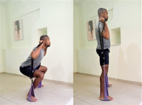 Resistance Bands Squats are the best resistance band exercises for legs