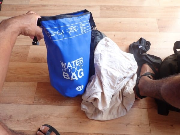 My Travel Laundry Kit - The Best Travel Laundry Soap I can find, and dry bag laundry friendly waterproof bag