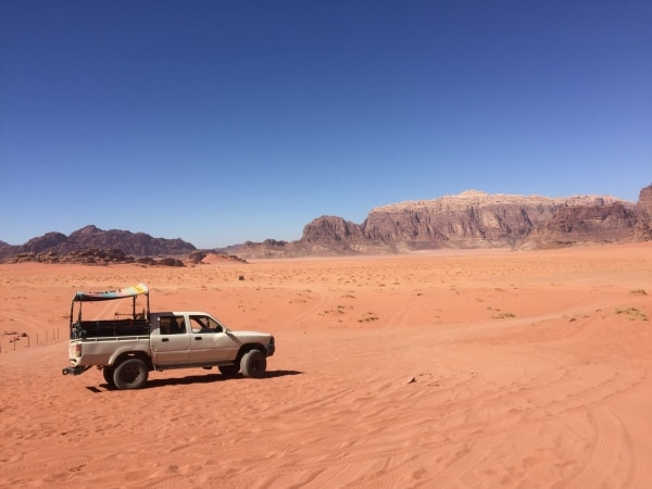 The chariot  for many Wadi Rum Tours via 4x4