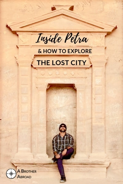 Go inside Petra to discover the stone temple ruins of the ancient Bedouin kingdom on your own self guuide tour of Petra