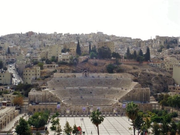The Roman Auditorium in Amman - Amman Jordan Travel