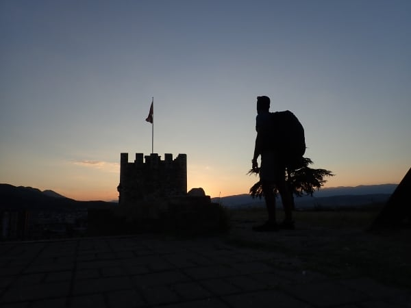 Hiking the city of Skopje, Macedonia on a layover.  (45L+ GORUCK GR3)