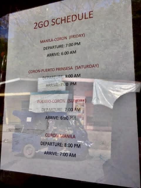 Coron to Manila and Manila to Coron Ferry Schedule with 2GO Ferry