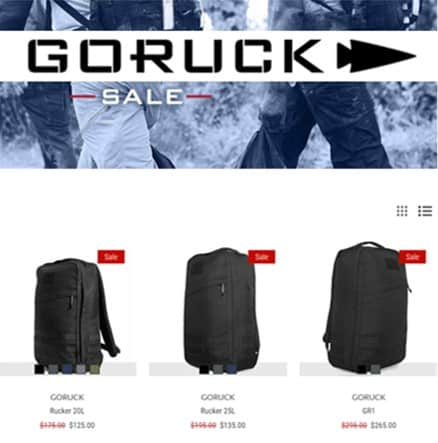 GORUCK Coupon Code discount and sale list