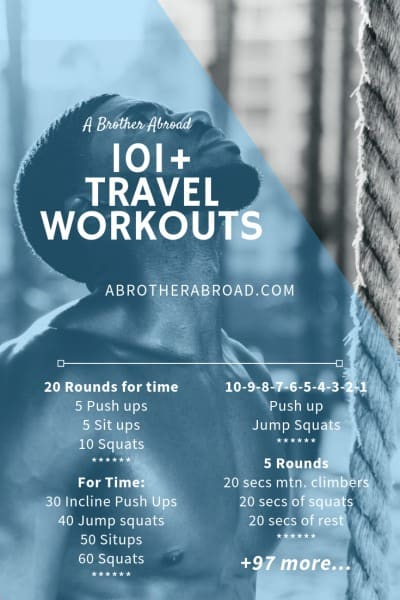 101+ Travel Workouts for Men with no equipment necessary | Travel HIIT Workouts | Travel Bodyweight Workouts | Crossfit with no Equipment | Bodyweight Exercises at home to build muscle