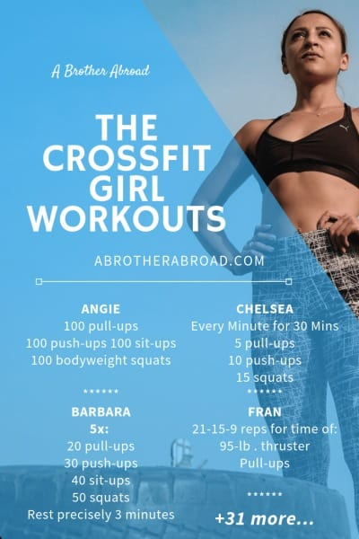 Crossfit Benchmark WODs, Crossfit Girls WODs, and Travel WODS | HIIT workouts with no equipment necessary