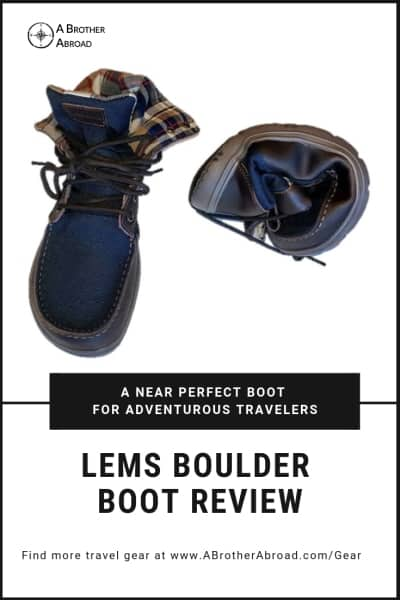 Lems Boulder Boot Review - A nearly perfect hiking boot and travel shoe for light travelers.