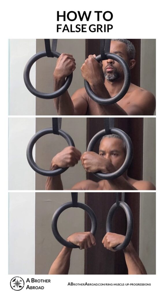 How to false grip   Ring Muscle Up Progressions