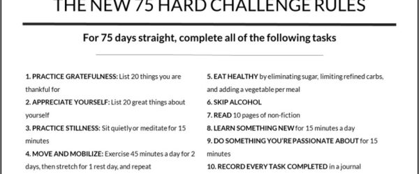 The New 75 Hard Challenge Rules [PDF] A New Approach to Toughness and Improvement